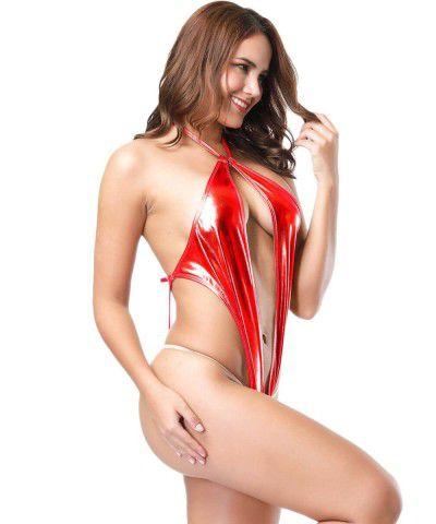 Xanded Fantazi Büyük Beden Aşk Kırmızısı Deri Seki İç Giyim