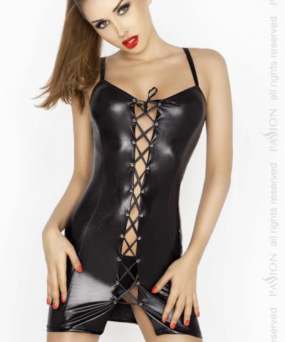 Xanded Fantazi Önü Açık Siyah Sekis Elbise İç Giyim