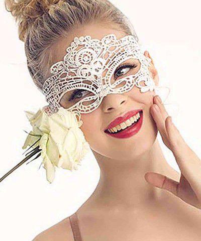 beyaz dantel maske