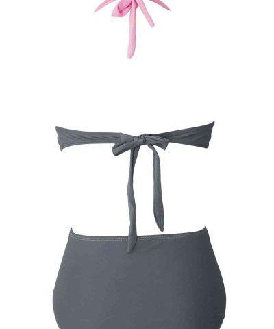 pembe gri bikini takımı