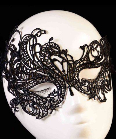 siyah dantel maske