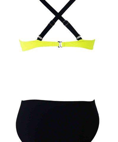 sarı siyah bikini takımı
