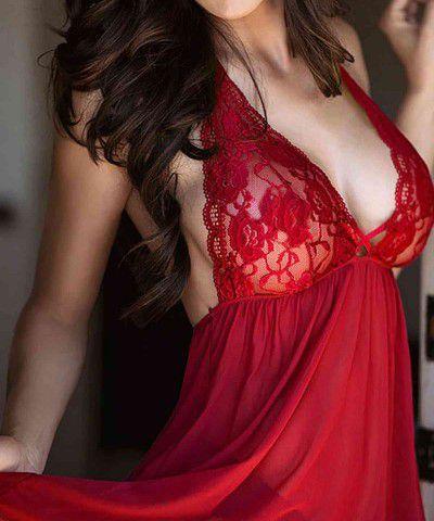 seksi kırmızı gecelik