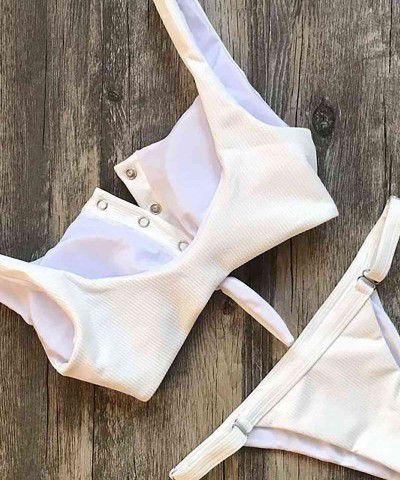 düğmeli bikini takımı