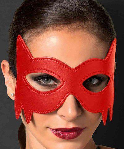 fantezi kırmızı deri maske