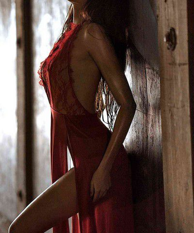 fantezi kırmızı gecelik