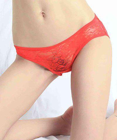 kırmızı seksi dantel külot