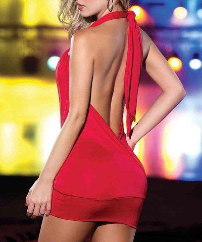 kırmızı seksi elbise