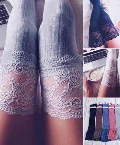 seksi dantel jartiyer çorabı