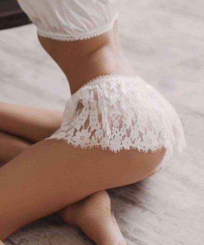 fantezi dantel külot beyaz