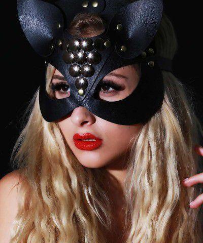 siyah kedi maske