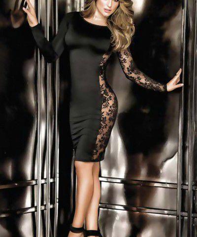 dekolteli dantel elbise